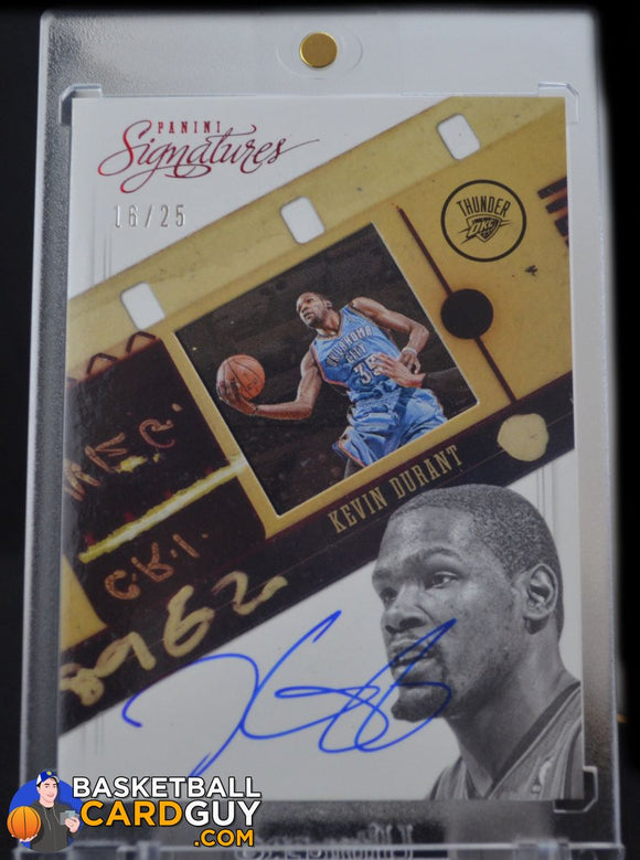 2012-13 Panini Signatures Film Autographs Red #86 Kevin Durant/25 - Basketball Cards