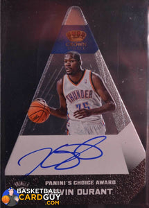 2012-13 Preferred Kevin Durant Silver Panini's Choice Award #56 Die Cut Auto /15 - Basketball Cards