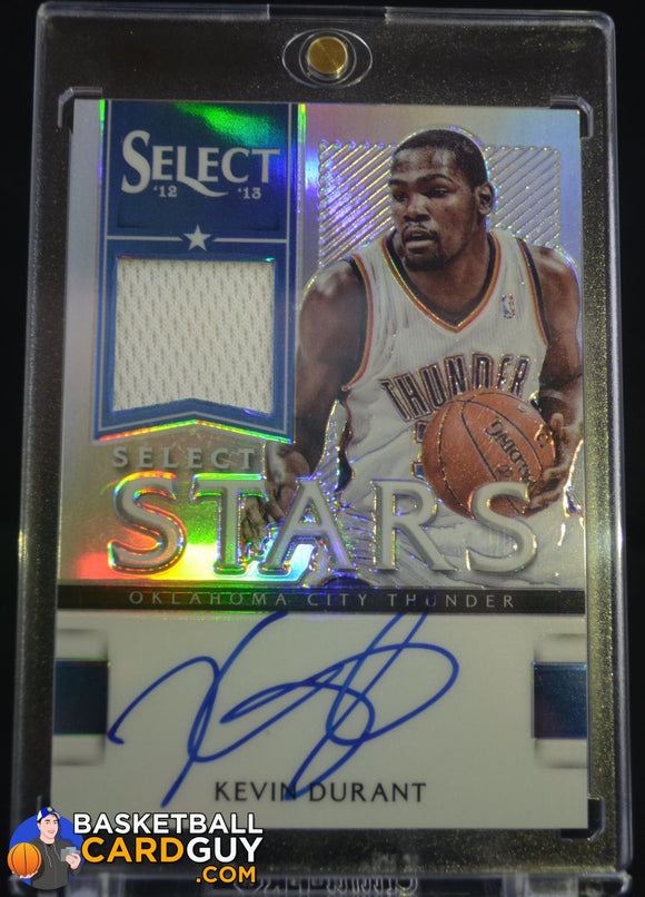 2012-13 Select Select Stars Jersey Autographs Prizms #1 Kevin Durant/49 - Basketball Cards