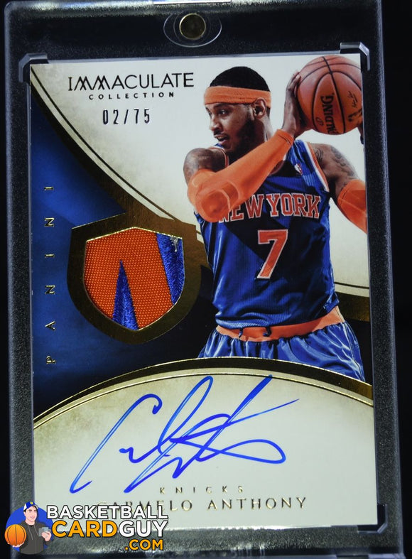 2013-14 Immaculate Collection #152 Carmelo Anthony JSY AU/75 - Basketball Cards