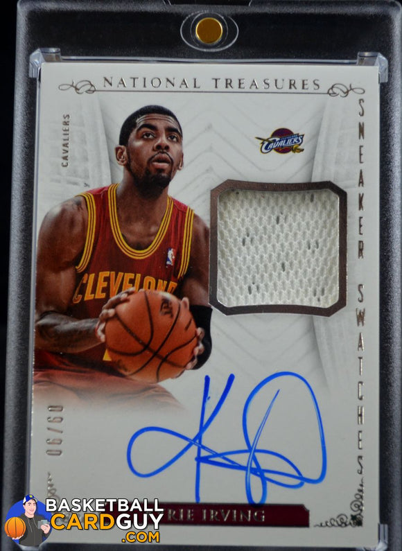 2013-14 National Treasures Sneaker Swatches Autographs Kyrie Irving /60 - Basketball Cards