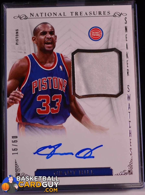 2013-14 National Treasures Sneaker Swatches Grant Hill /60 - Basketball Cards
