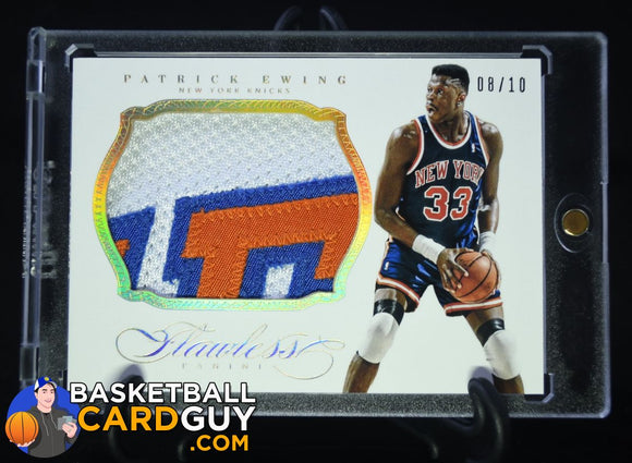2013-14 Panini Flawless Patches Gold #15 Patrick Ewing/10 - Basketball Cards