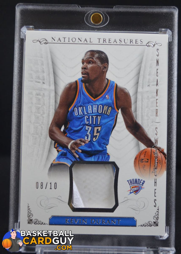 2013-14 Panini National Treasures Sneaker Swatches #19 Kevin Durant/10 - Basketball Cards