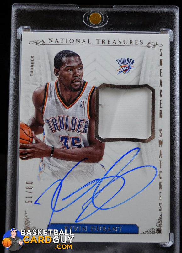 2013-14 Panini National Treasures Sneaker Swatches Autographs #13 Kevin Durant/60 - Basketball Cards
