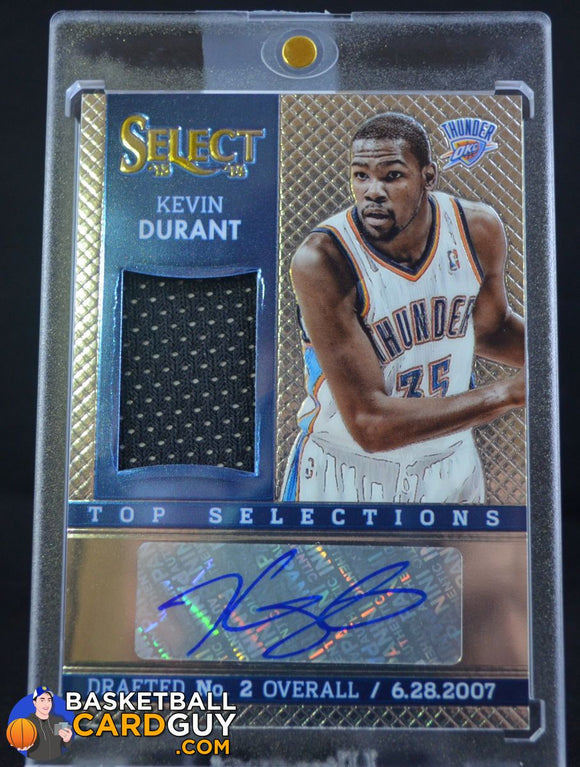 2013-14 Select Top Selections Jersey Autographs #15 Kevin Durant - Basketball Cards