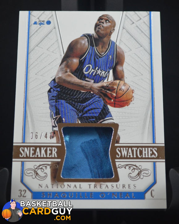 2014-15 Panini National Treasures Sneaker Swatches #SSSO Shaquille O'Neal/49 - Basketball Cards