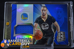 2014-15 Panini Spectra Franchise Fabrics #FRASC Stephen Curry /25 - Basketball Cards