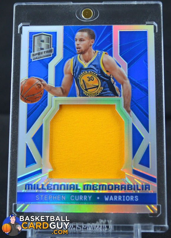 2014-15 Panini Spectra Millenial Memorabilia #MMSC Stephen Curry/35 Yellow - Basketball Cards