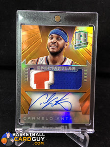 2014-15 Panini Spectra Spectacular Swatches Signatures Prizms Orange #SSCA1 Carmelo Anthony - Basketball Cards