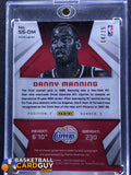 2014-15 Panini Spectra Spectacular Swatches Signatures Prizms Orange #SSDM1 Danny Manning - Basketball Cards