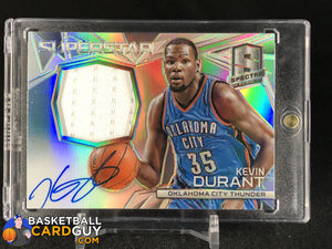 2014-15 Panini Spectra Superstar Autograph Materials #22 Kevin Durant - Basketball Cards