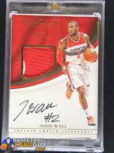 2016-17 Immaculate Collection Sneaker Swatch Signatures #25 John Wall/25 - Basketball Cards