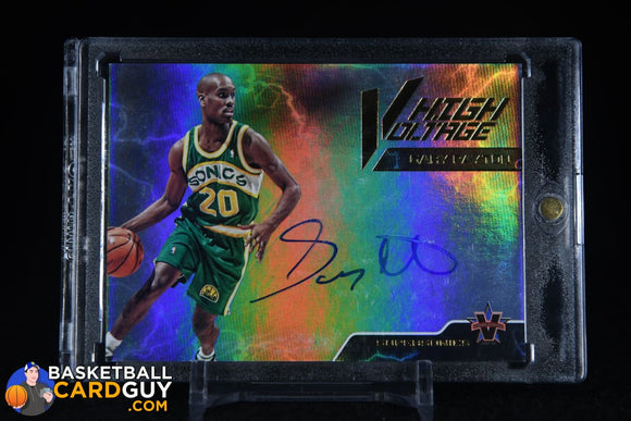 2017-18 Panini Vanguard High Voltage Signatures #18 Gary Payton/49 autograph, basketball card, numbered