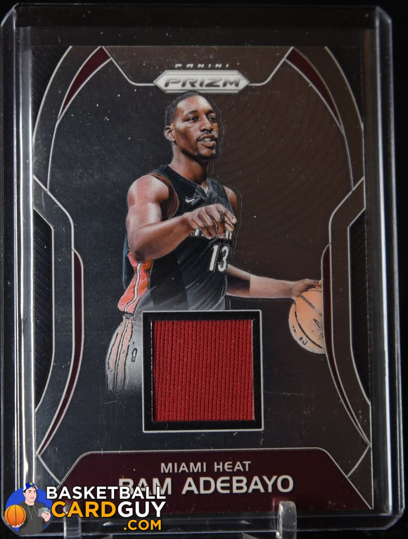 2017-18 Prizm Bam Adebayo RC Jersey Sensational Swatches basketball card, jersey, rookie card