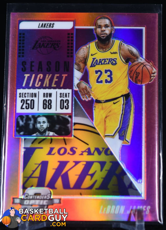 2018-19 Panini Contenders Optic Red #100 LeBron James basketball card, prizm