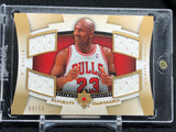 Michael Jordan 2007-08 Ultimate Collection Leadership Quad Jersey Gold #/50 - Basketball Cards