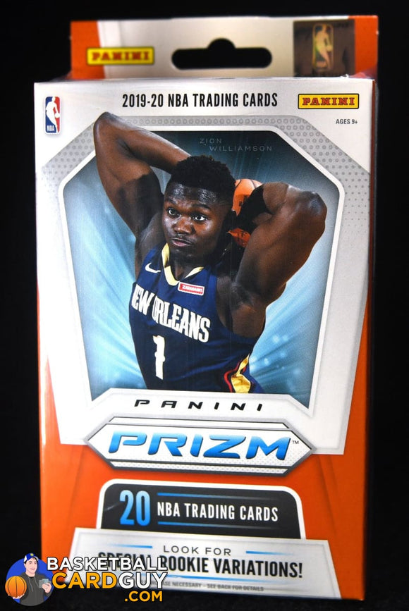 2019-20 Panini Prizm Basketball Hanger Pack Box (Orange Ice Exclusives) basketball card, prizm