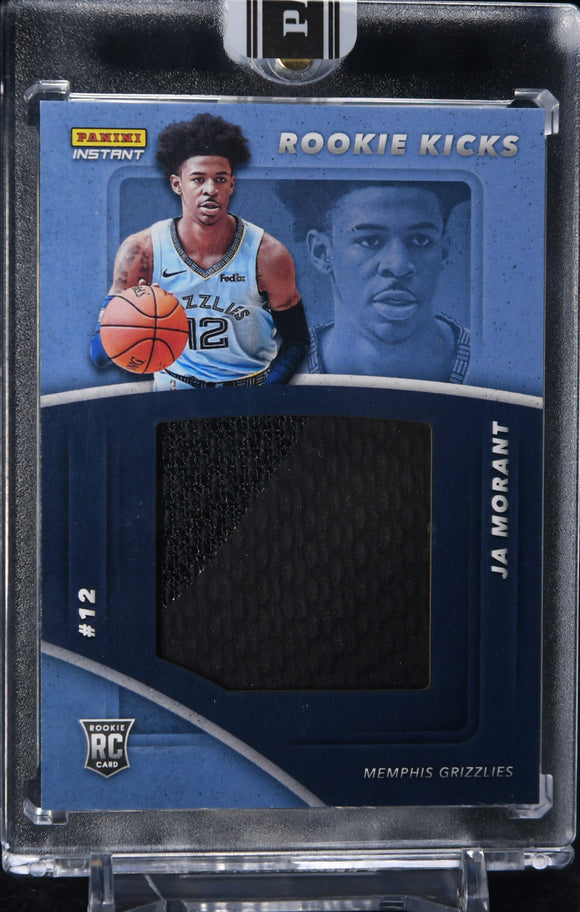 Ja Morant 2019-20 Panini Instant Rookie Kicks Shoe Patch #/18 - Basketball Cards