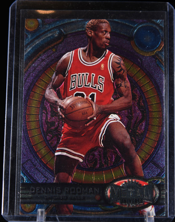 Dennis Rodman 1997-98 Metal Universe #107 - Basketball Cards