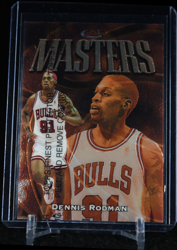 1997-98 Finest #220 Dennis Rodman Bronze MASTERS - Basketball Cards