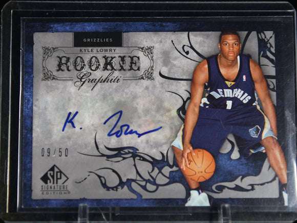 Kyle Lowry 2006-07 SP Signature Edition Rookie GRAPHiti #/50