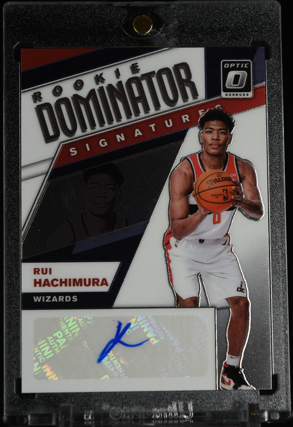 Rui Hachimura/ 2019-20 Donruss Optic Rookie Dominators Signatures RC #/99
