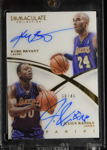 Kobe Bryant / Julius Randle 2014-15 Immaculate Collection Dual Acetate Autographs #/49