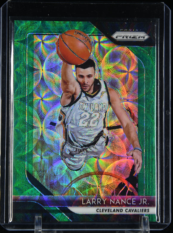 Larry Nance Jr. 2018-19 Panini Prizm Prizms Choice Green #/8