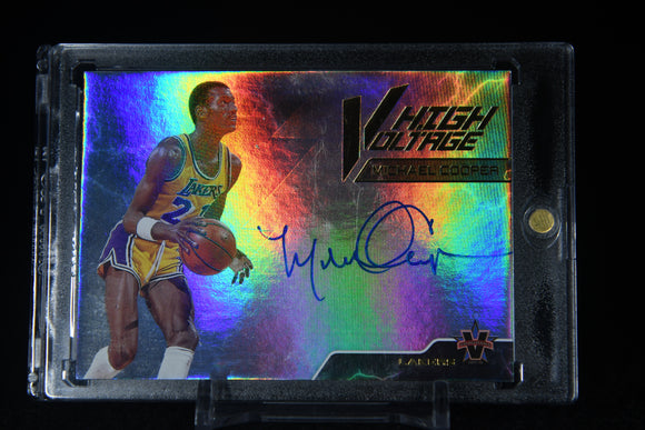 Michael Cooper 2017-18 Panini Vanguard High Voltage Signatures #/99