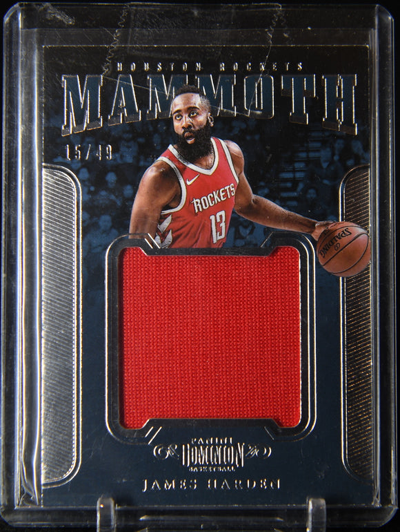 James Harden 2017-18 Panini Dominion Mammoth Materials #9