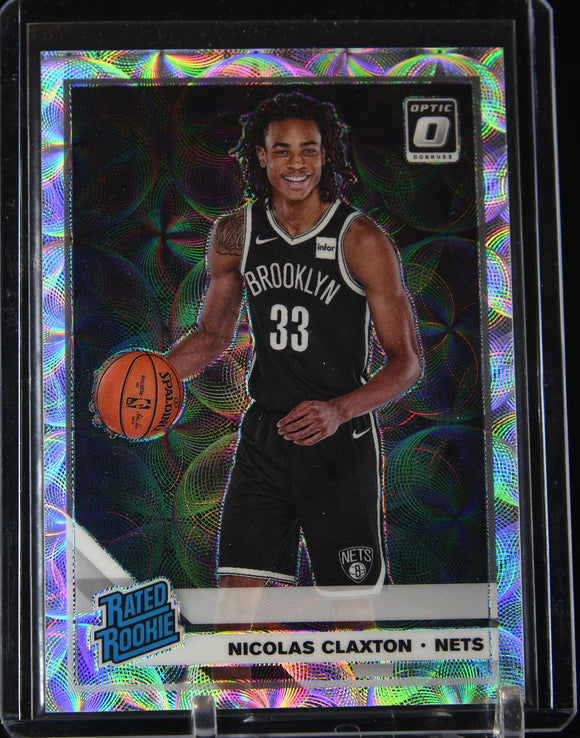 Nicolas Claxton 2019-20 Optic Premium Silver Scope Prizm Rated Rookie #/249