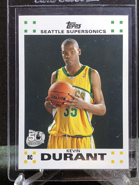 Kevin Durant 2007-08 Topps RC (White) - Basketball Cards