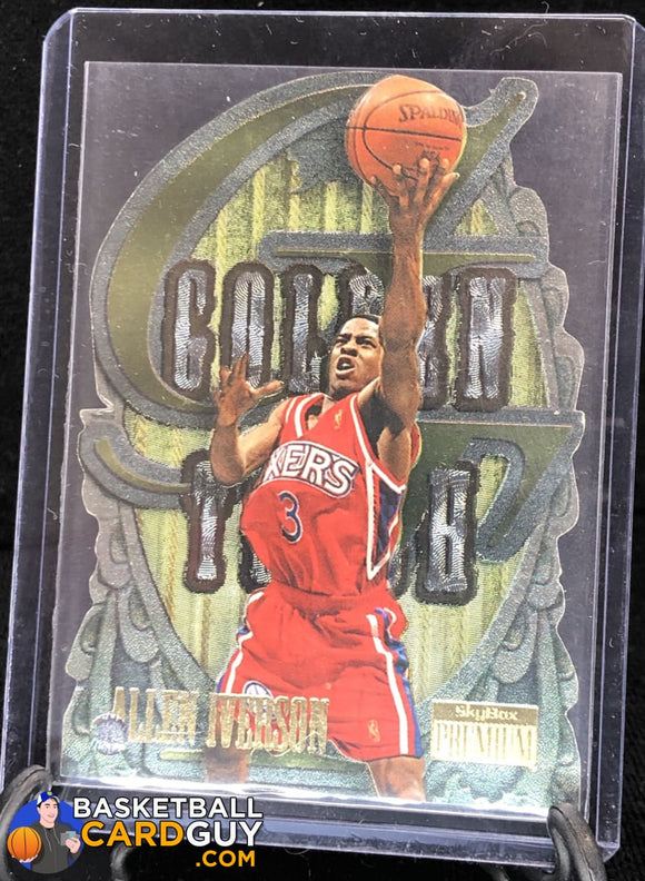 Allen Iverson 1996-97 SkyBox Premium Golden Touch #4 - Basketball Cards