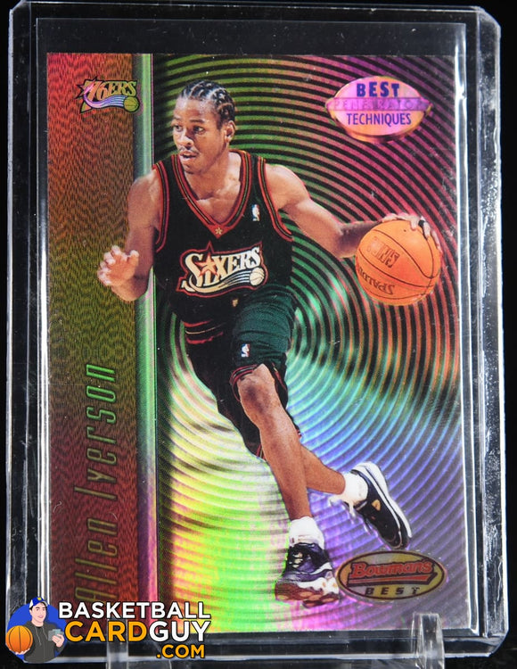 Allen Iverson 1997-98 Bowman's Best Techniques Refractors #T9 basketball card