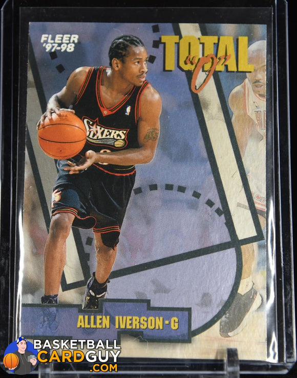 Allen Iverson 1997-98 Fleer Total O #4 90's insert, basketball card