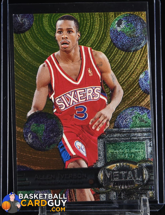 Allen Iverson 1997-98 Metal Universe #20 basketball card
