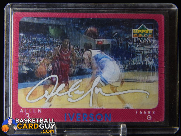 Allen Iverson 1997-98 Upper Deck Diamond Vision Signature Moves #20 basketball card