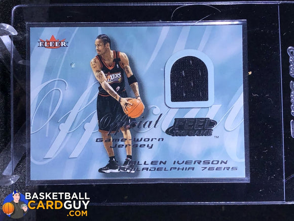 Allen Iverson 2000-01 Fleer Feel the Game #11A (Black) - Basketball Cards