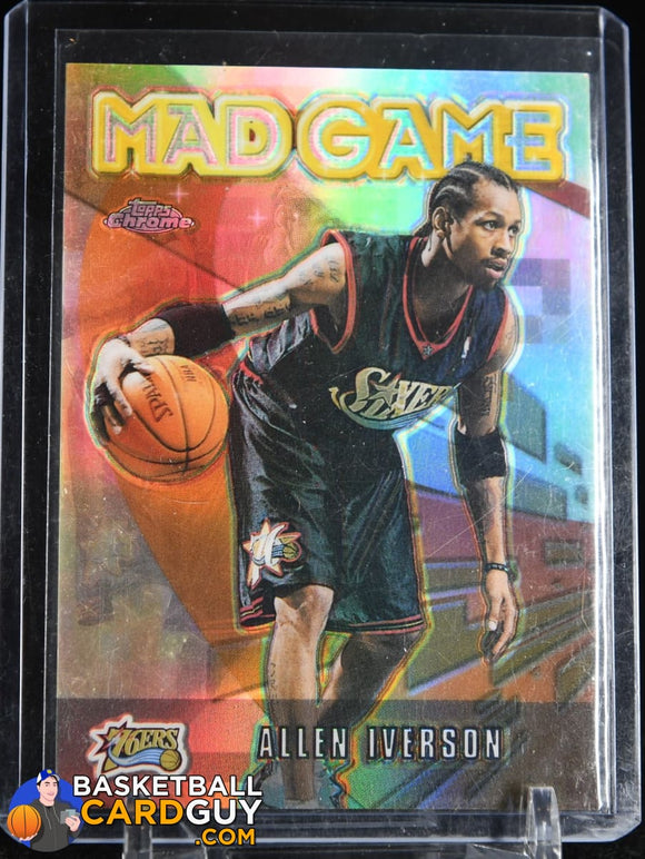 Allen Iverson 2001-02 Topps Chrome Mad Game Refractors #MG1 basketball card, refractor