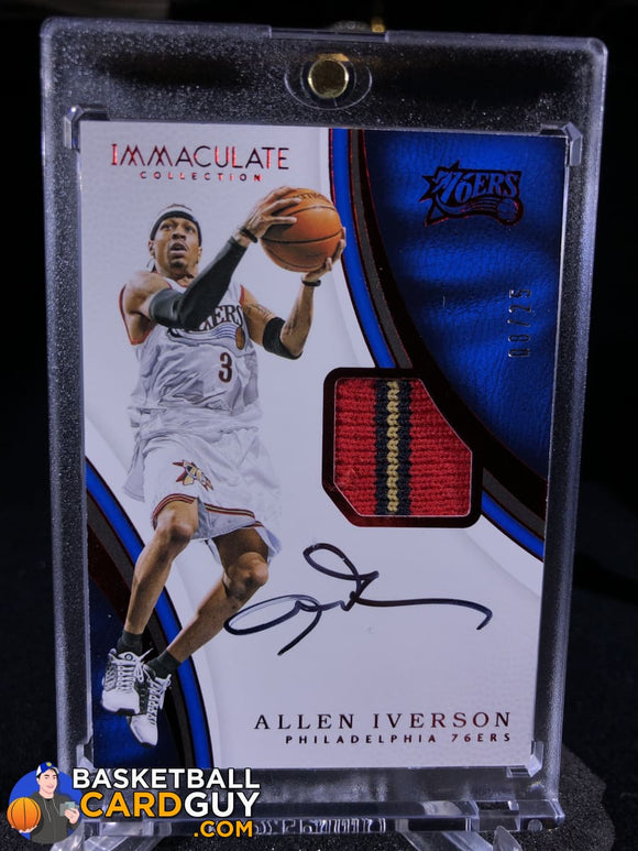 Allen Iverson 2016-17 Immaculate Collection Patch Autographs Red /25 - Basketball Cards