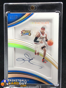 Allen Iverson 2016-17 Immaculate Collection Shadowbox Signatures #/35 - Basketball Cards