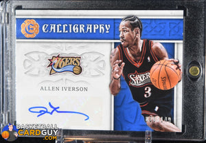 Allen Iverson 2016-17 Panini Excalibur Calligraphy Autographs #/149 - Basketball Cards