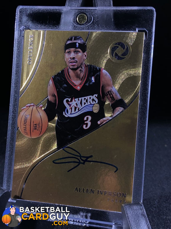 Allen Iverson 2017-18 Panini Opulence Opulent Autographs Silver /25 - Basketball Cards