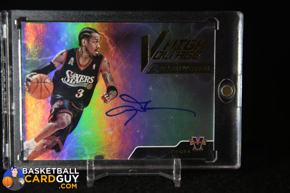 Allen Iverson 2017-18 Panini Vanguard High Voltage Signatures #/25 autograph, basketball card, numbered