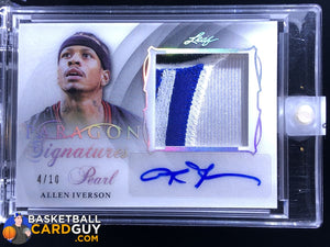 Allen Iverson  2017 Leaf Pearl Paragon Signatures Patch #/10 - Basketball Cards