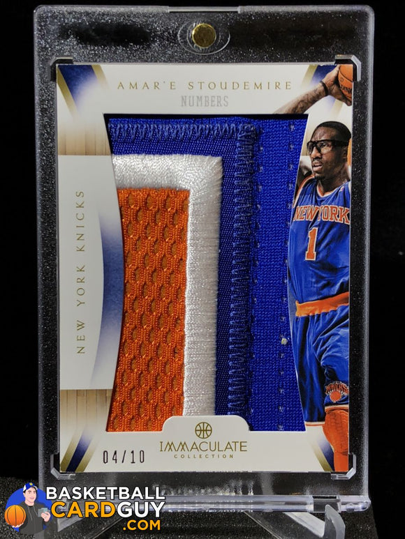 Amar'e Soudemire Immaculate Numbers /10 - Basketball Cards