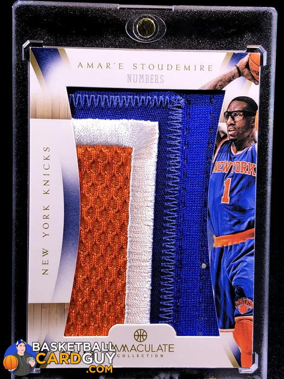 Amar'e Stoudemire 2012-13 Immaculate Collection Numbers Patches #4/10 - Basketball Cards