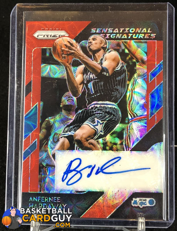 Anfernee Hardaway 2018-19 Panini Prizm Sensational Signatures Prizms Choice Red - Basketball Cards