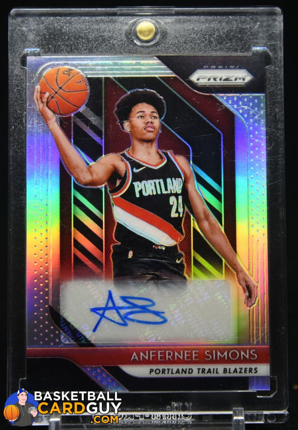 Anfernee Simons 2018-19 Panini Prizm Rookie Signatures Prizms Silver #24 autograph, basketball card, rookie card